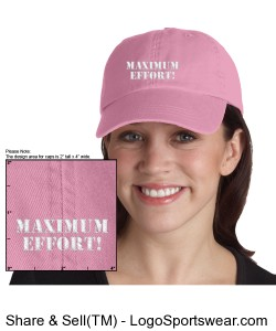 Maximum Effort! Ladies Hat Design Zoom